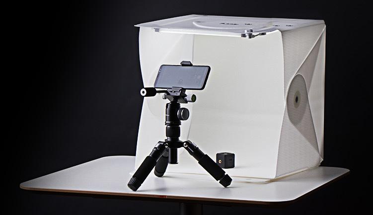 Orangemonkie Foldio med Orangemonkie Tripod för produktfoto och produktbilder